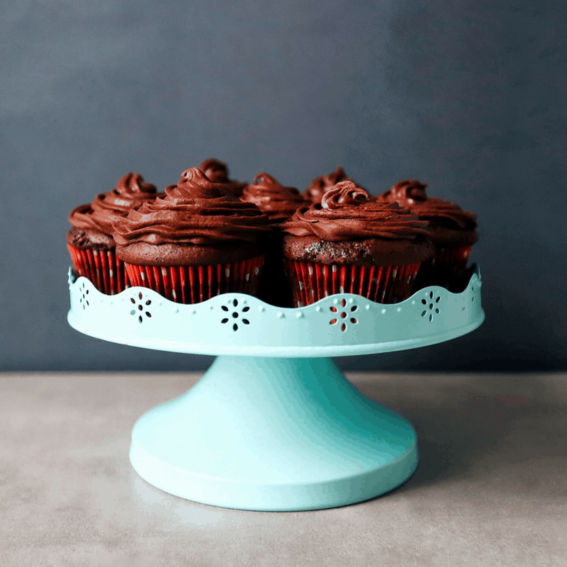 FODMAP friendly chocolate cupcakes with ganesh icing