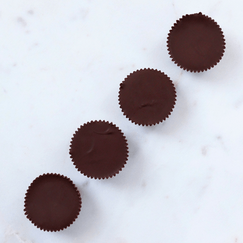 Low FODMAP Peanut Butter Cups on counter top