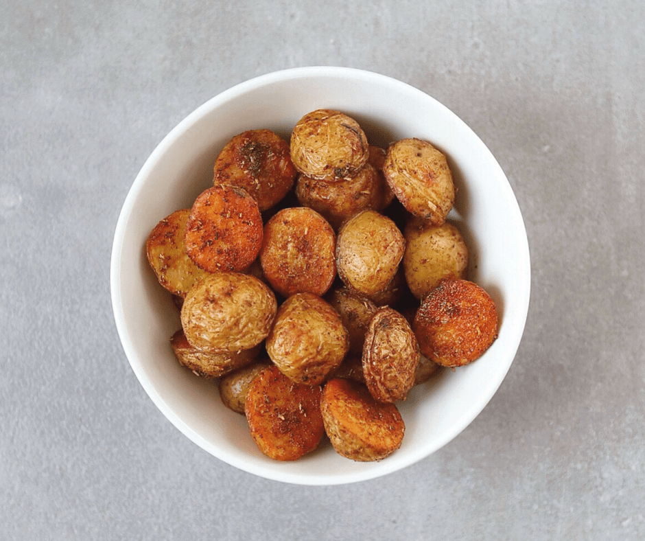 Low FODMAP Mini Paprika Potatoes in bowl
