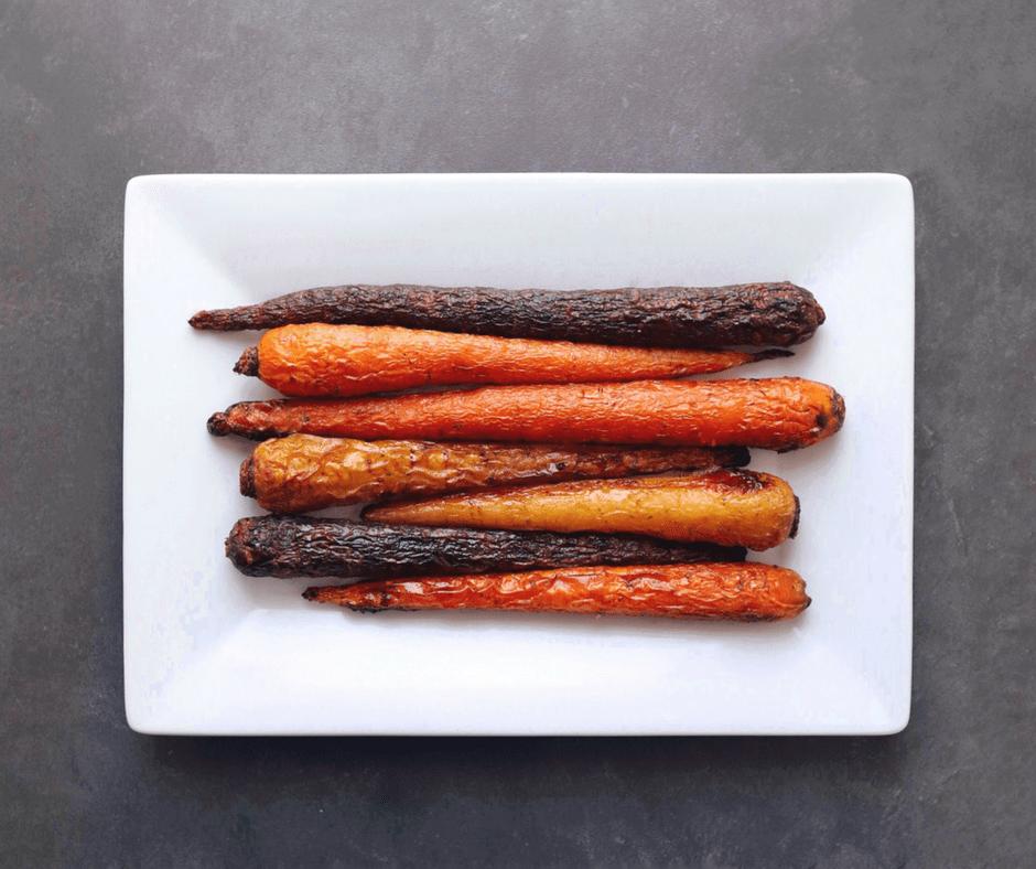 Low FODMAP Seasoned Carrots on plate