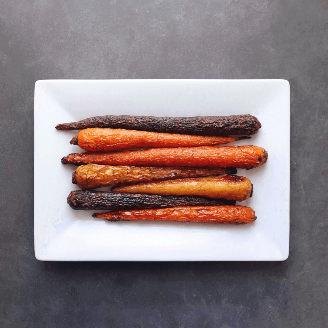 Low FODMAP Seasoned Carrots on plate