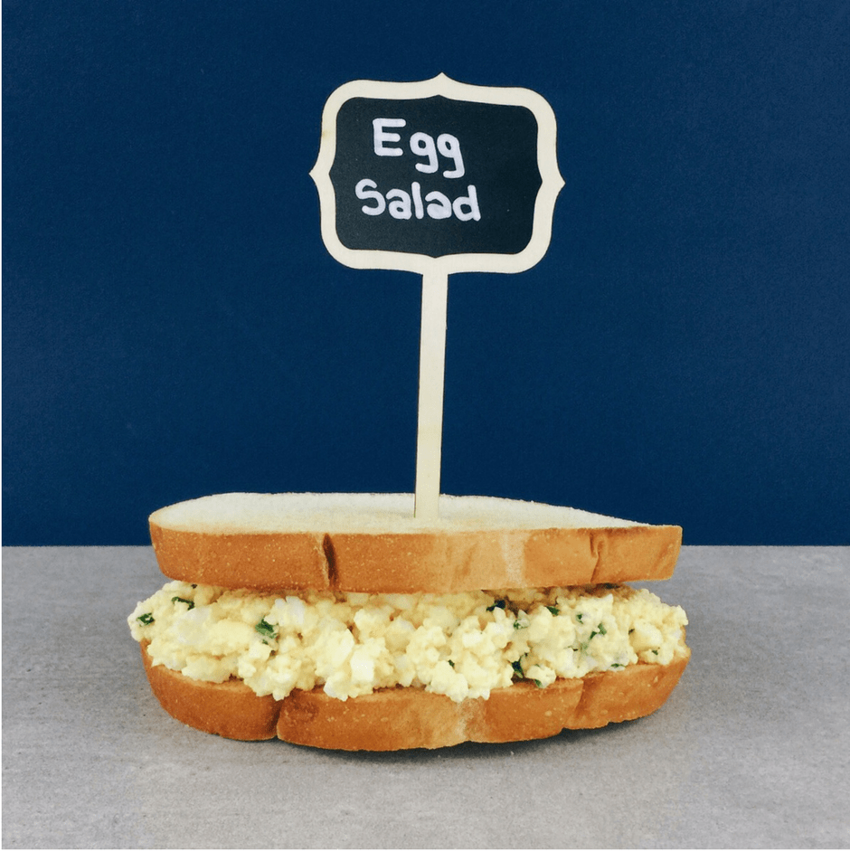 Low FODMAP egg salad sandwich