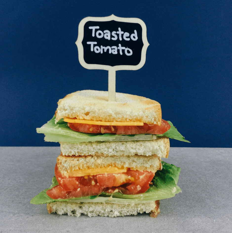 Low FODMAP Toasted Tomato Sandwich