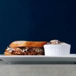 Low FODMAP Pulled Pork sandwich on plate