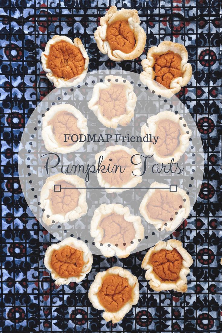 FODMAP friendly pumpkin tarts on wire rack