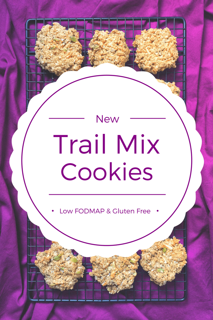 trail mix cookies on wire rack