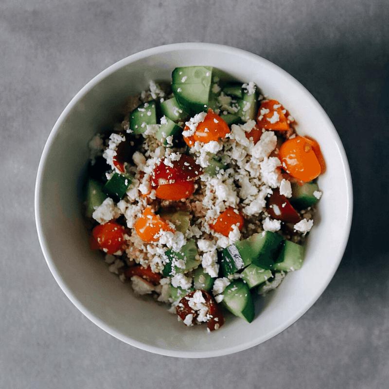 Low FODMAP Quinoa Salad in bowl