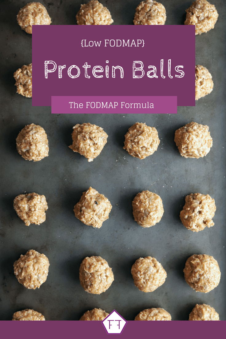 Low FODMAP Protein Balls on baking tray