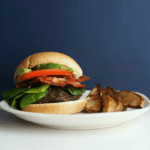 Low FODMAP Hamburgers with low FODMAP potato wedges