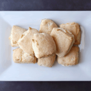 Low FODMAP Orange Scones on plate