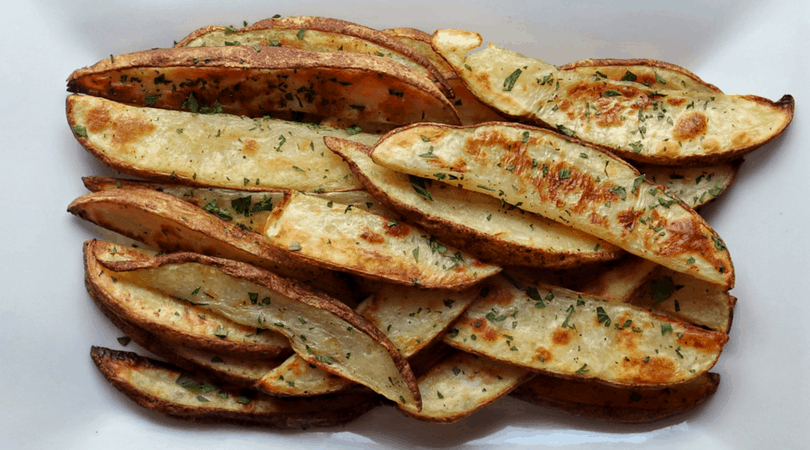 Low FODMAP Potato Wedges on plate