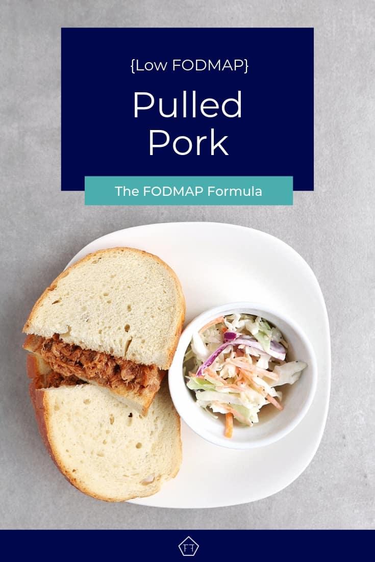 Low FODMAP Pulled Pork Sandwich on Plate - Pinterest 2