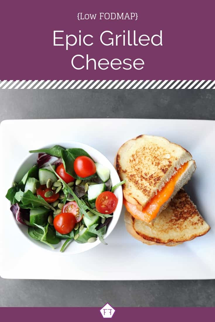 Low FODMAP Grilled Cheese with Side Salad - Pinterest 1