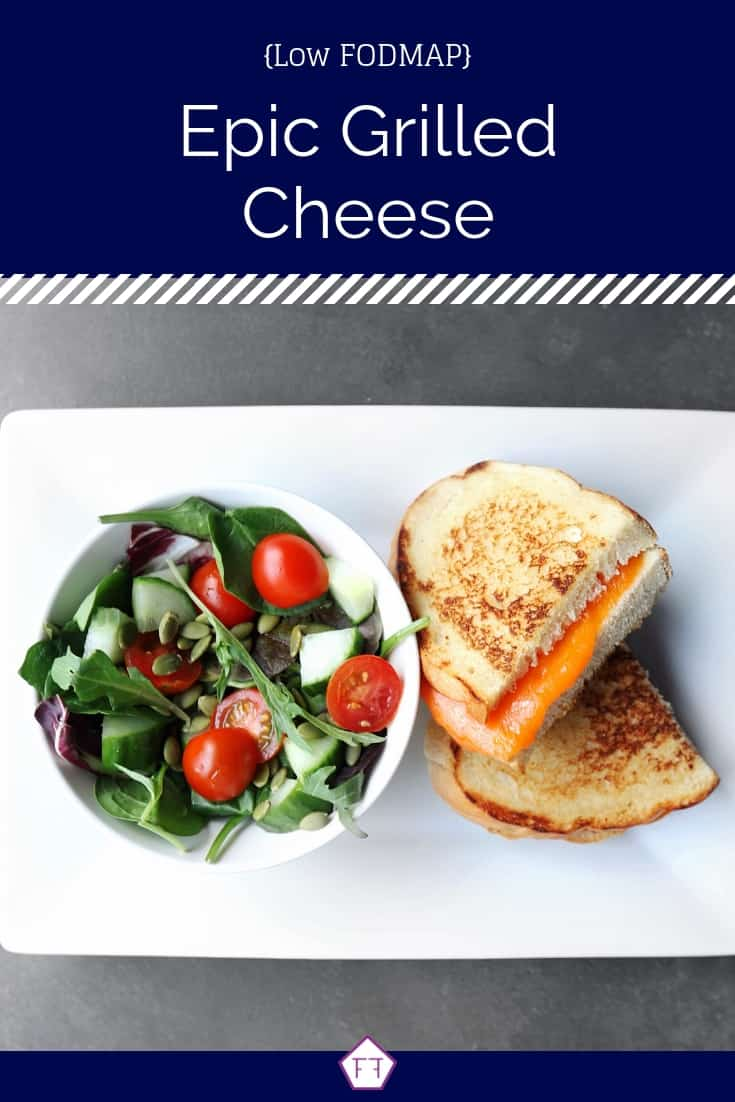 Low FODMAP Grilled Cheese with Side Salad - Pinterest 2