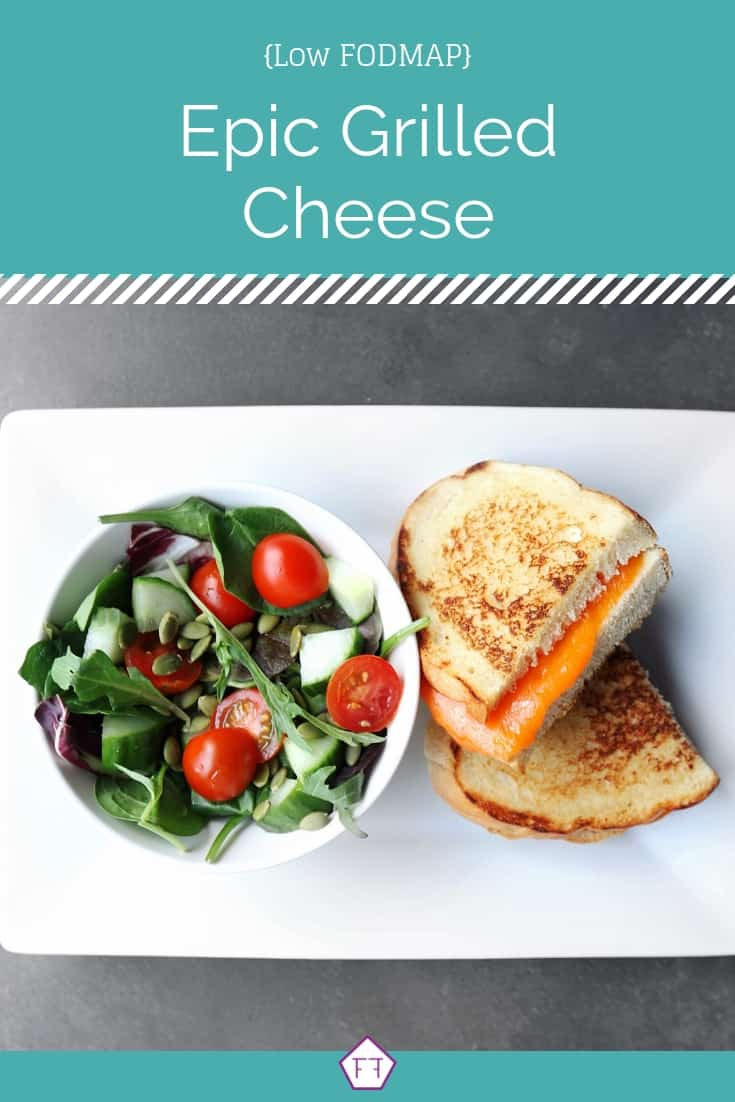 Low FODMAP Grilled Cheese with Side Salad - Pinterest 3