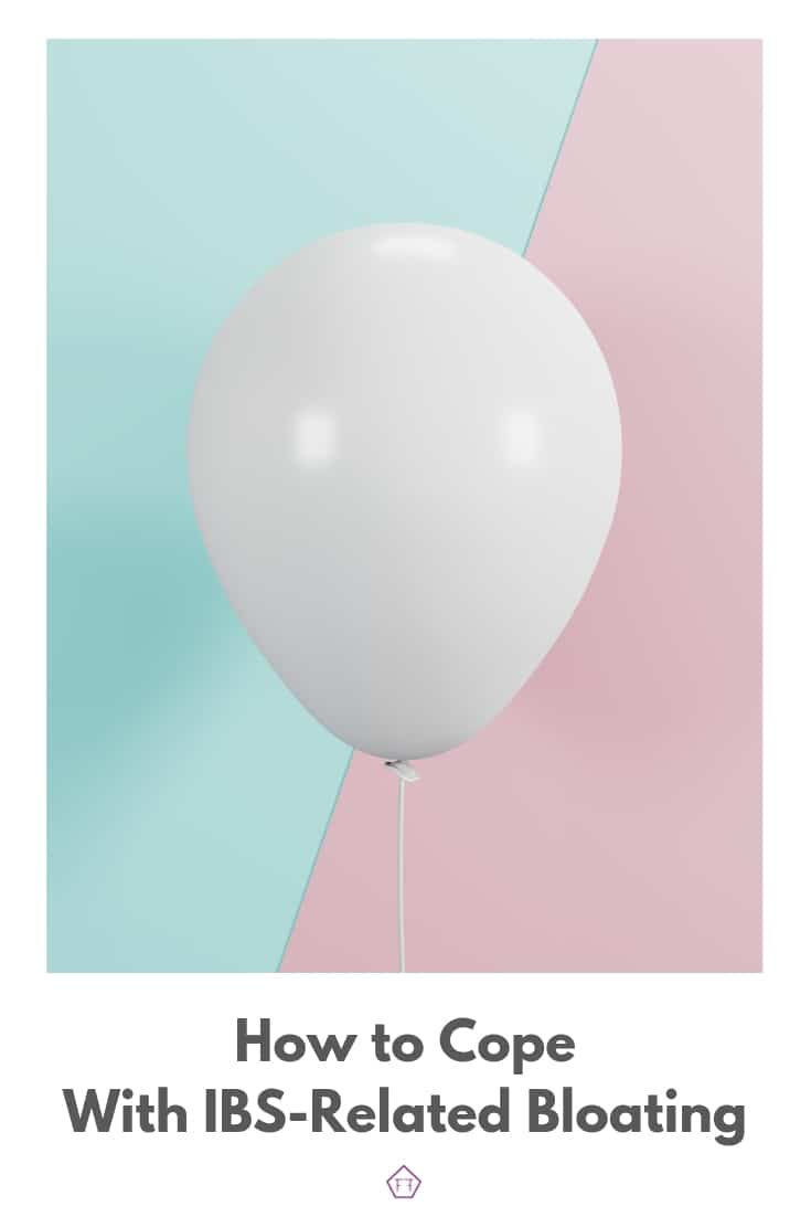 Balloon with text overlay: How to cope with IBS-related bloating