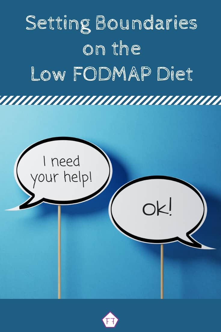 How to Set Boundaries for Success on the Low FODMAP Diet with speech bubbles