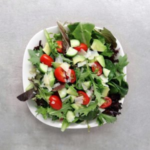 Low FODMAP Avocado and Asiago Salad - Feature Image