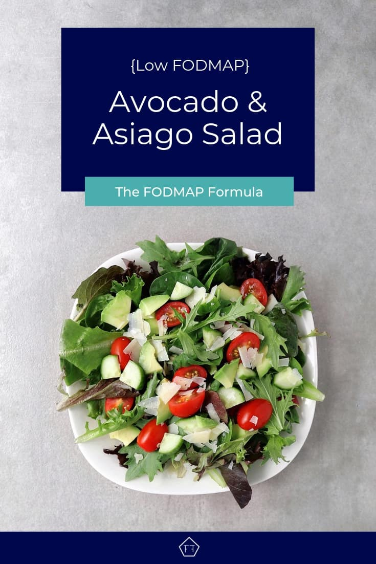 Low FODMAP Avocado and Asiago Salad - Pinterest 3