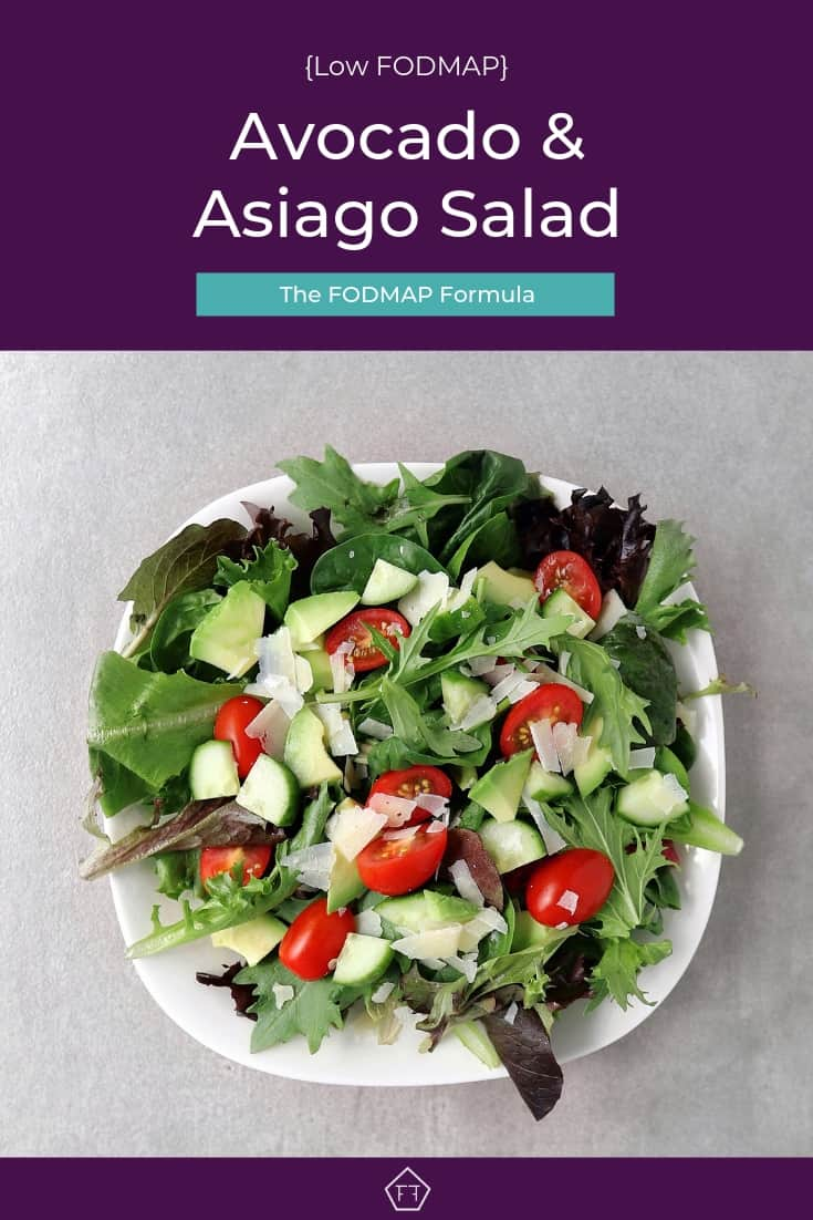 Low FODMAP Avocado and Asiago Salad - Pinterest 4