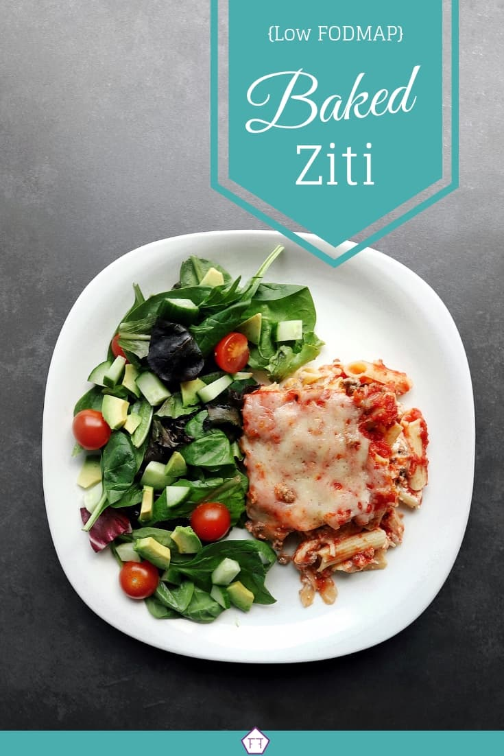 Low FODMAP baked ziti - Pinterest 2