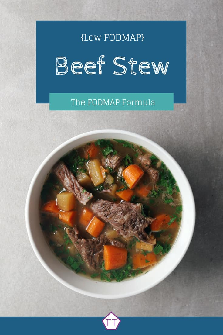 Low FODMAP Short Rib Beef Stew with text overlay (blue)
