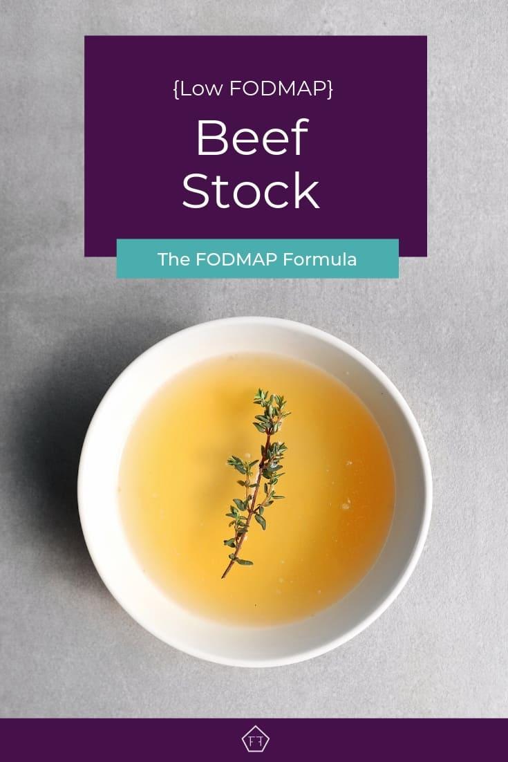 Low FODMAP beef stock in bowl - Pinterest 2