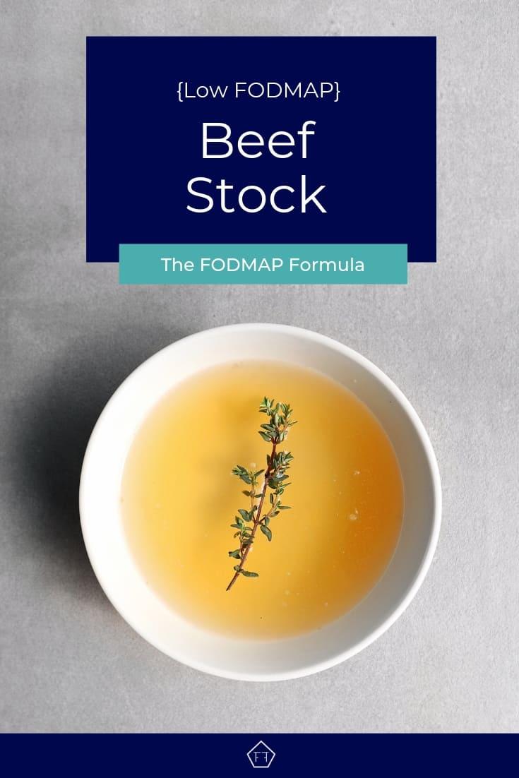 Low FODMAP beef stock in bowl - Pinterest 3