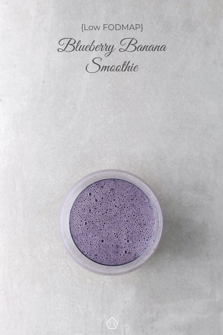 Low FODMAP Blueberry Banana Nut Smoothie - Pinterest 1