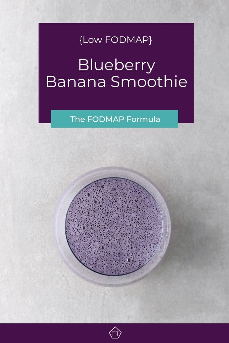 Low FODMAP Blueberry Banana Nut Smoothie -Pinterest 2