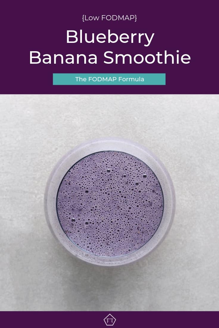 Low FODMAP Blueberry Banana Nut Smoothie - Pinterest 3