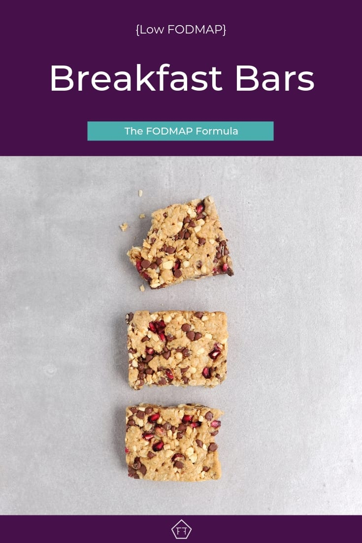 3 Low FODMAP Breakfast bars in line - Pinterest 3