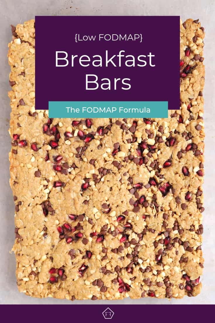 3 Low FODMAP Breakfast bars - Pinterest 1