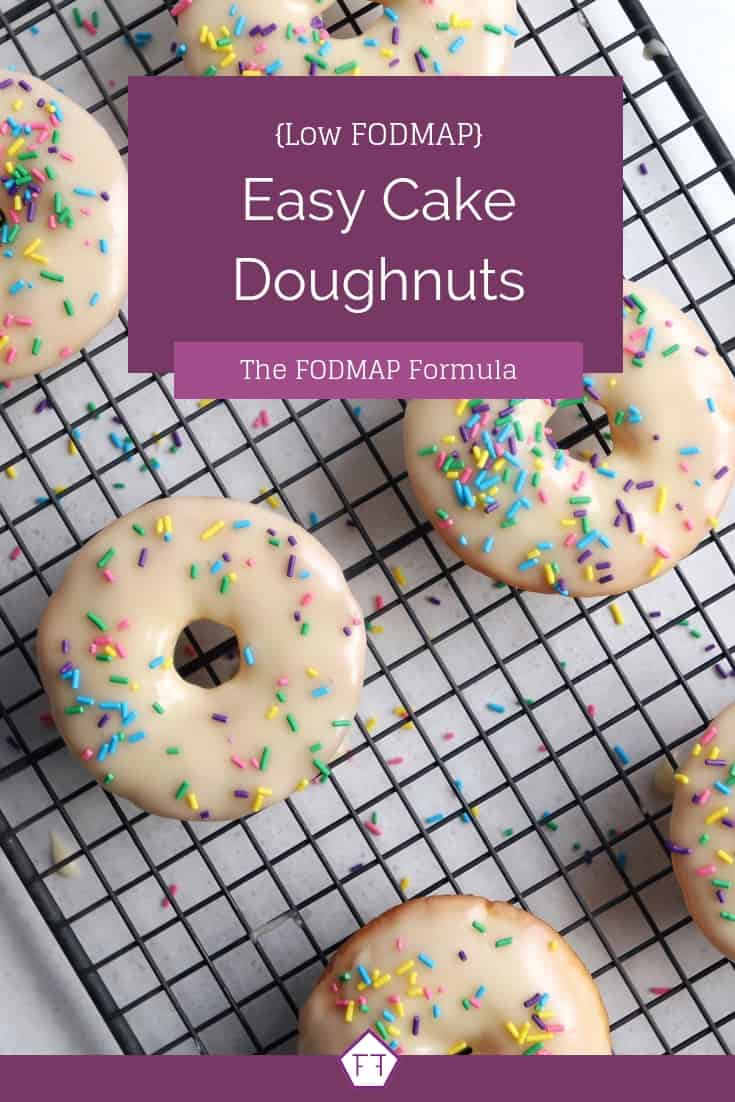 Low FODMAP Cake Doughnuts - Pinterest 1