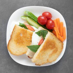 Low FODMAP Cheesy Egg Sandwiches