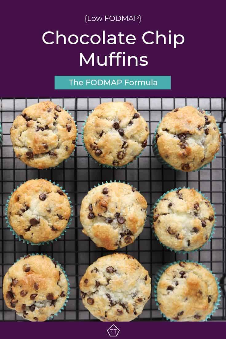 Low FODMAP Chocolate Chip Muffins on Plate - Pinterest 3