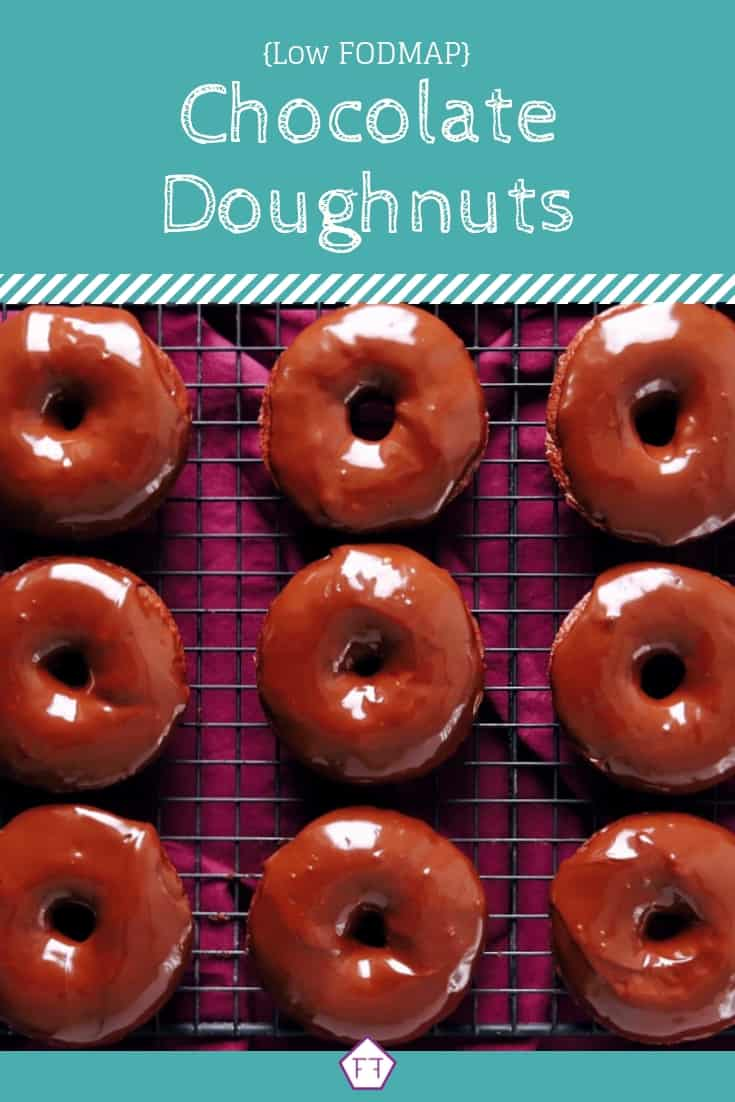 Low FODMAP Chocolate Doughnuts on Wire Rack