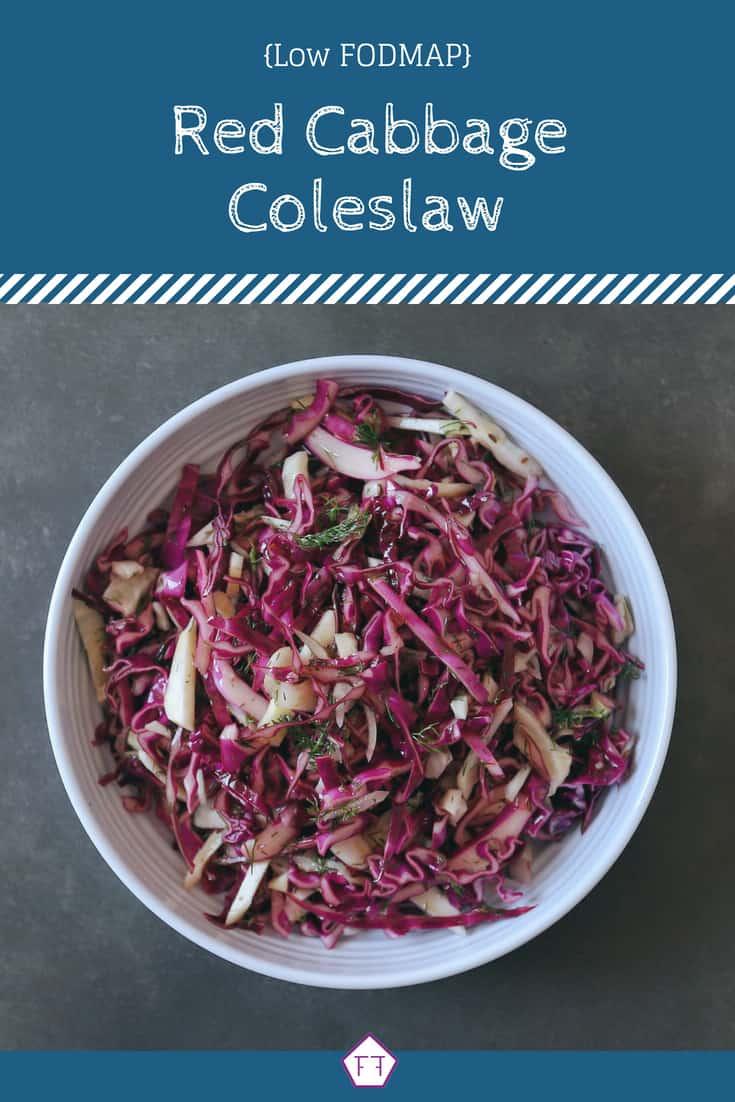 Low FODMAP Coleslaw