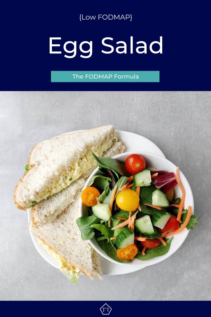Low FODMAP Egg Salad Sandwich with garden salad - Pinterest 3