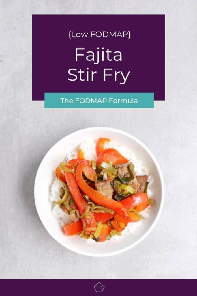 Low FODMAP Fajita Stir Fry in bowl