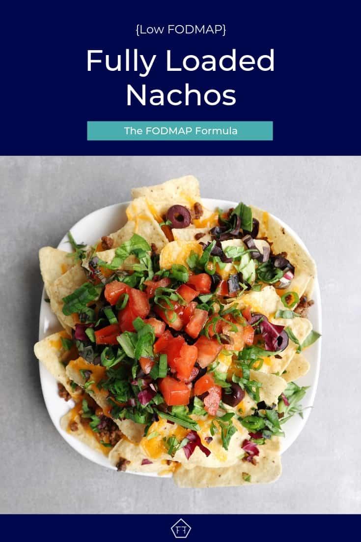 Low FODMAP Fully Loaded Nachos on Plate - Pinterest 3
