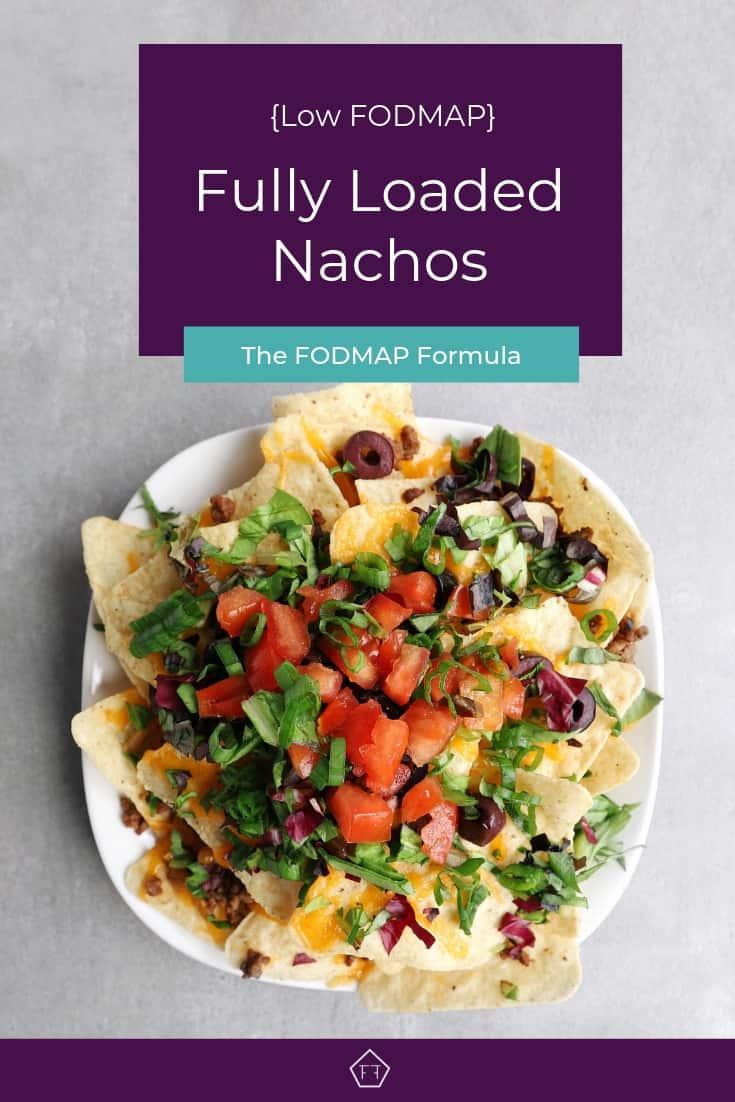 Low FODMAP Fully Loaded Nachos on Plate - Pinterest 5