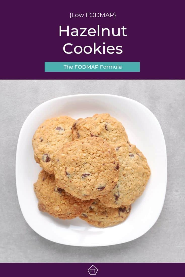 Low FODMAP hazelnut cookies on plate - Pinterest 4