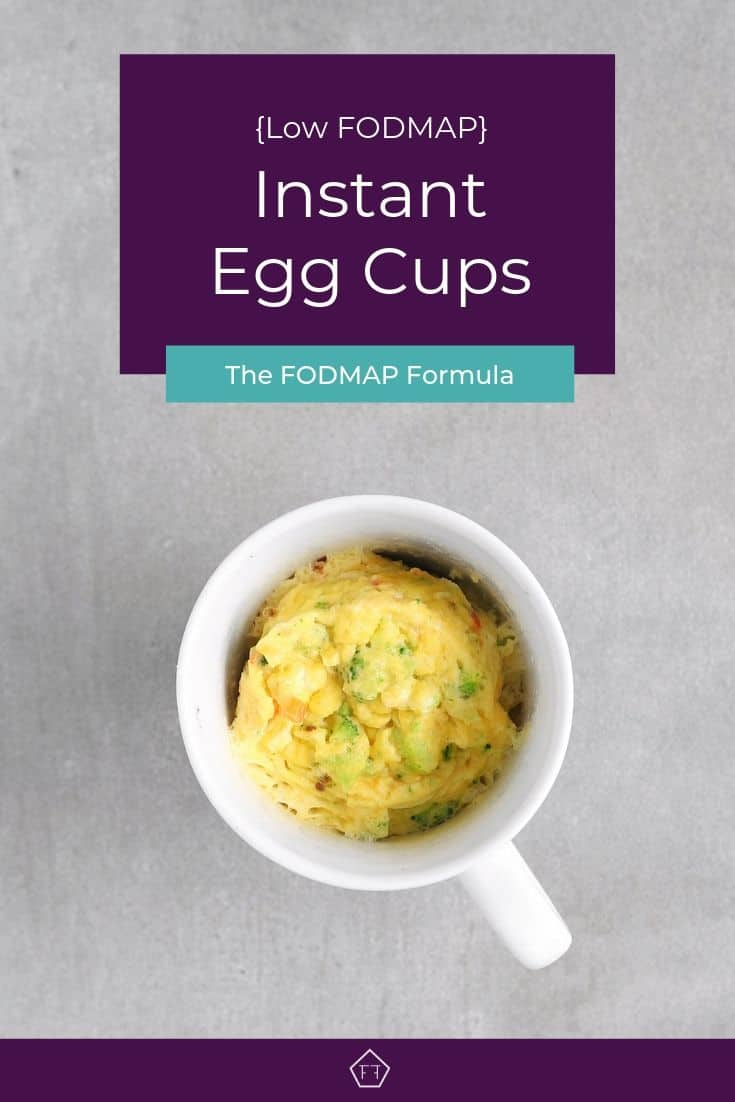 Low FODMAP Instant Egg Cup in mug - Pinterest 2