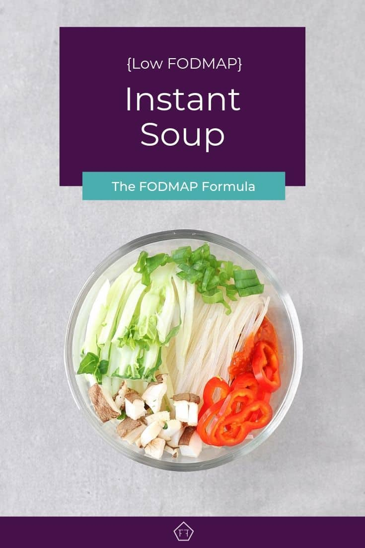 Low FODMAP Instant Soup - Pinterest 1