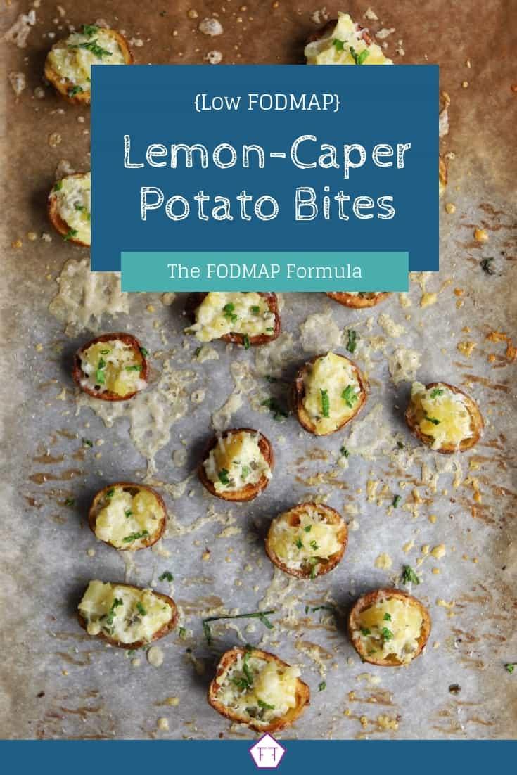 Low FODMAP lemon-caper potato bites