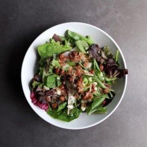 Low FODMAP Maple Bacon Salad