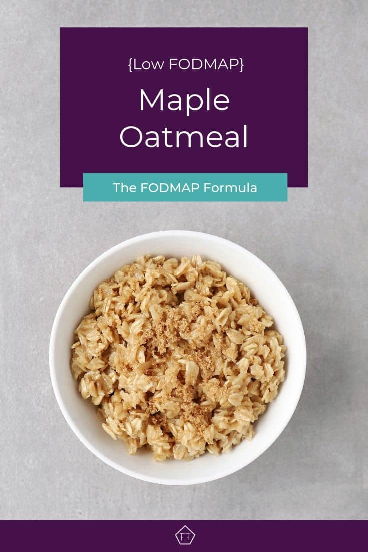 Low FODMAP maple oatmeal in bowl - Pinterest 2
