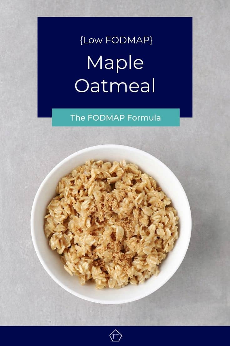 Low FODMAP maple oatmeal in bowl - Pinterest 3