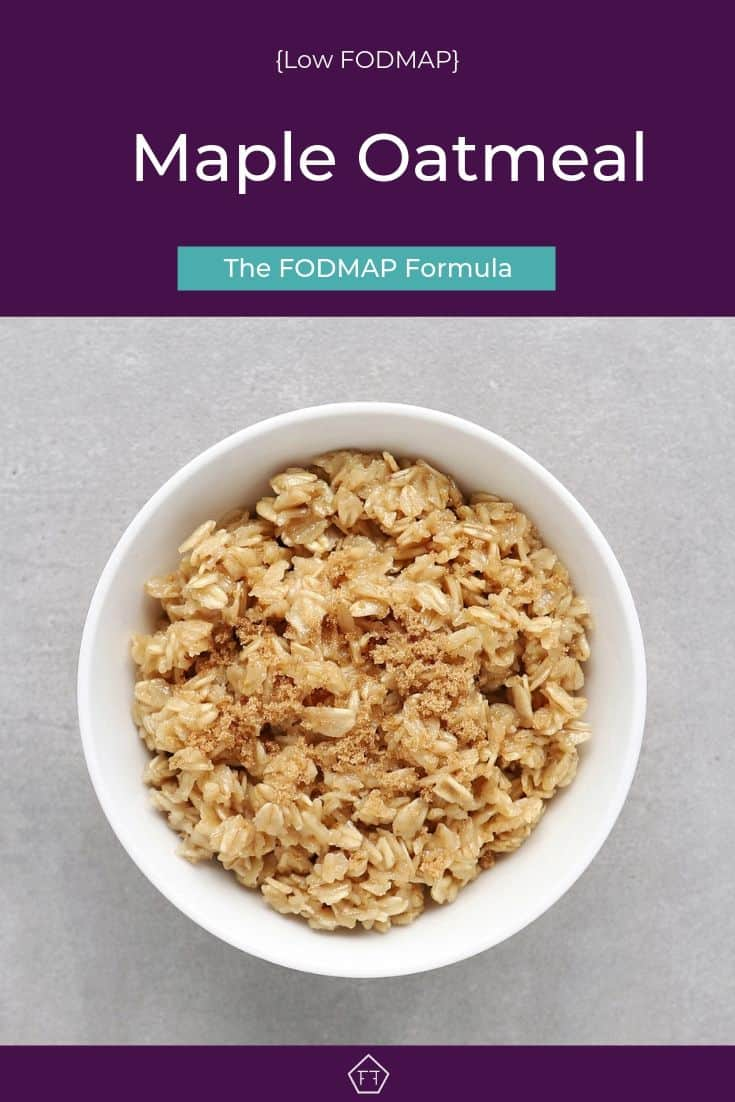 Low FODMAP maple oatmeal in bowl - Pinterest 4